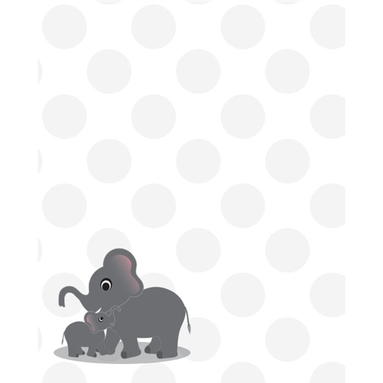 Mother & Baby Elephant Printed Backdrop