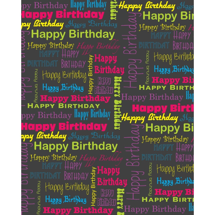 Happy Birthday Collage Printed Backdrop Backdrop Express