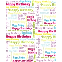 Happy Birthday Collage Backdrop - Poly Paper - 5ft (w) x 6ft (h)