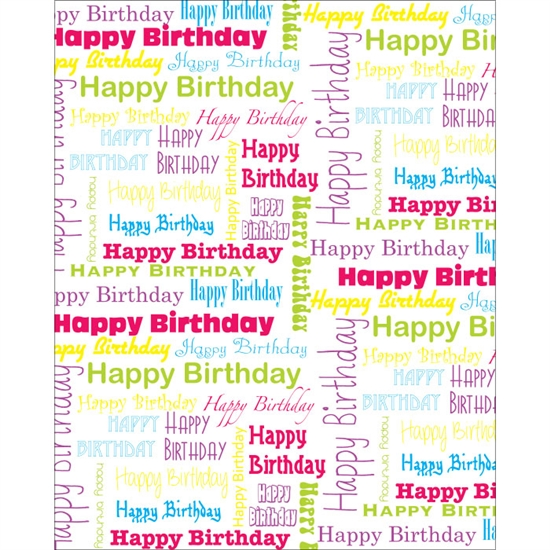 Happy Birthday Collage (White) Printed Backdrop