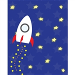 Rocket into Space Printed Backdrop