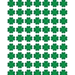 St. Patty's Clovers Printed Backdrop