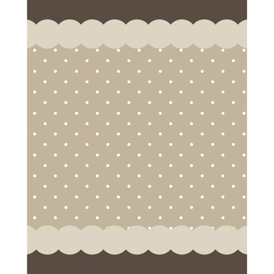 Mocha Polka Dot Printed Backdrop
