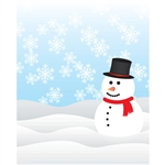 Snowman Printed Backdrop