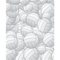 Volleyballs Printed Backdrop