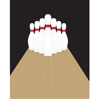 Bowling Lane Printed Backdrop