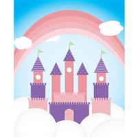 Princess Castle Printed Backdrop