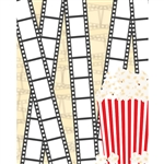 Movie Film & Popcorn Printed Backdrop
