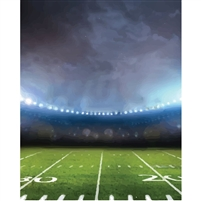 Surreal Football Field Printed Backdrop - Vinyl - 5ft (w) x 9ft (h)