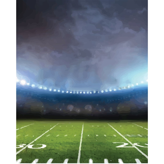 Surreal Football Field Printed Backdrop