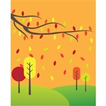Fall Trees Printed Backdrop