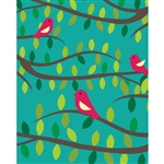 Birds in Trees Printed Backdrop