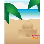 Beach Sandcastle Printed Backdrop