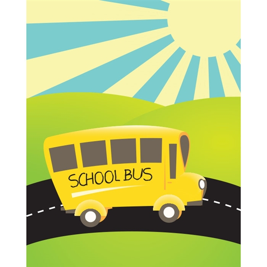 Morning Schoolbus Printed Backdrop