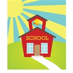 School House Printed Backdrop
