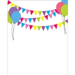 Birthday Banners & Balloons Printed Backdrop