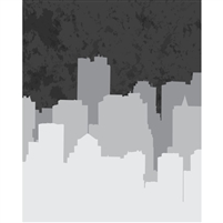 Grayscale City Printed Backdrop