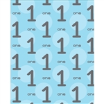 1st Birthday for Boys Printed Backdrop