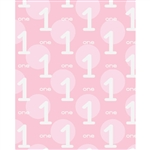 1st Birthday for Girls Printed Backdrop