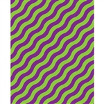 Purple & Green Waves Printed Backdrop