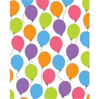 Colorful Balloons Printed Backdrop