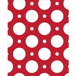 Red with White Dots Printed Backdrop