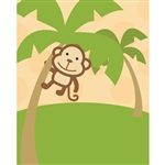 Tropical Monkey Printed Backdrop