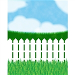 White Picket Fence Printed Backdrop