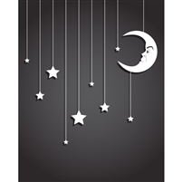 Hanging Stars Printed Backdrop