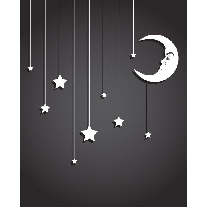 Hanging Stars Printed Backdrop Backdrop Express