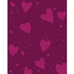 Tonal Hearts Printed Backdrop