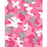 Pink Camo Printed Backdrop