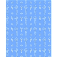 Blue Ice Cream Printed Backdrop