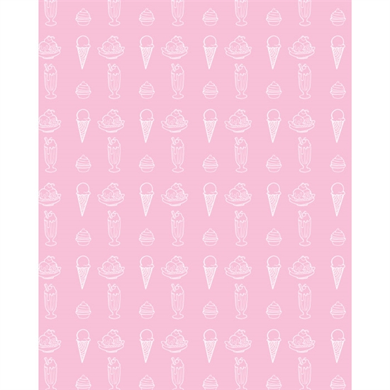 Ice Cream Printed Backdrop