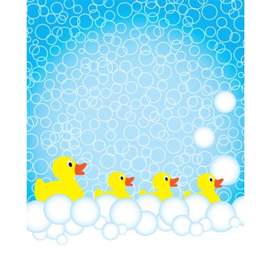 Rubber Ducky Bath Printed Backdrop Backdrop Express