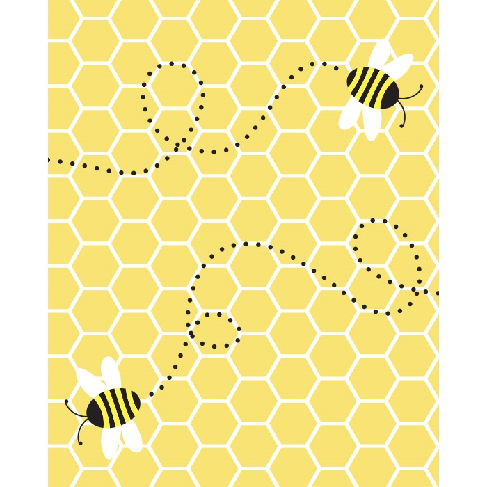 Honey Bee Printed Backdrop Backdrop Express