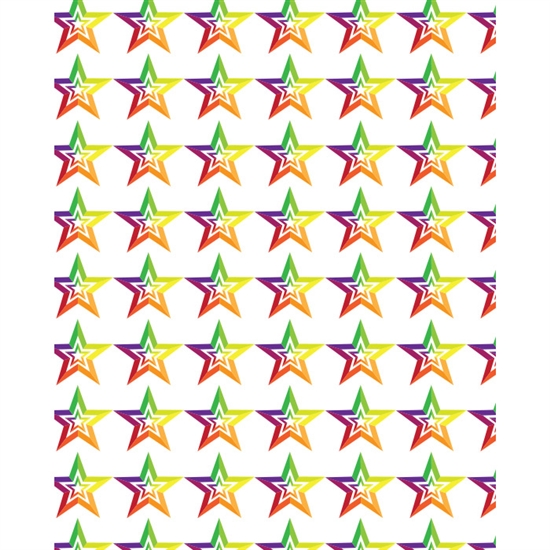 Rainbow Colored Stars Printed Backdrop