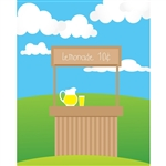 Lemonade Stand Printed Backdrop