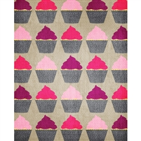 Pink Cupcakes Printed Backdrop