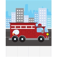 Firetruck  Printed Backdrop