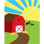 Barn Printed Backdrop