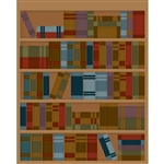 Library Bookcase Printed Backdrop