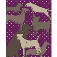 Dog Silhouettes Printed Backdrop
