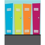 Colorful Lockers Printed Backdrop