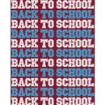 Back to School Printed Backdrop