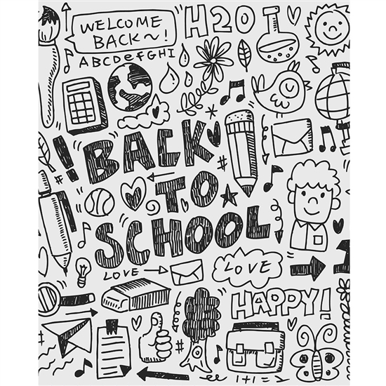 Welcome Back to School Printed Backdrop