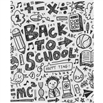 Back to School Doodles Printed Backdrop