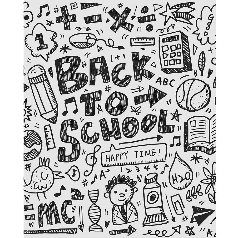 back to school doodles printed backdrop backdrop express