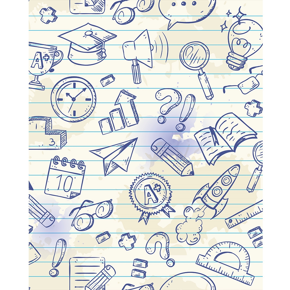 Science Design For Notebook: Science Notebook Printed Backdrop