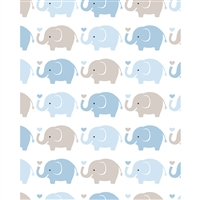 Baby Elephants Printed Backdrop